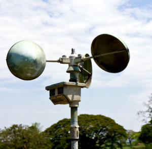 Anemometer station is instrument of measurement